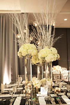 Love the height on this centerpiece!