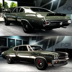 70 chevelle #BecauseSS (Forza 6) using muscle cars front and rear spoiler red calipers. gamer