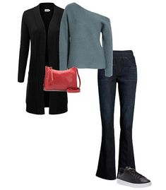 Create balance, with your outfit to draw attention away from the widest part of your belly | 40plusstyle.com