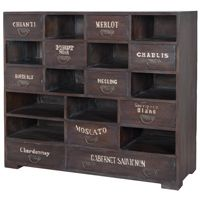 With a whimsical space for every vintage plus rustic, antiqued drawer pulls, this Rustic Farmhouse Wine Chest makes a fantastic addition to the bar. Many compartments plus drawers with hand-painted wine graphics. Shop Farmhouse Chic furniture now. French Country Furniture, Shabby Chic Furniture, Rustic Furniture, Furniture Decor, Painted Furniture, Grey Furniture, Furniture Storage, Kitchen Furniture, Grey Stain