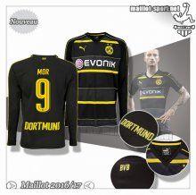 Maillots-Sport: Le Nouveau Maillot Du Dortmund BVB Manche Longue Mor 9 Exterieur 2016 2017