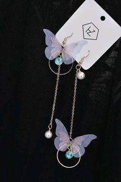 Kawaii Jewelry, Cute Jewelry, Jewelry Accessories, Fashion Accessories, Jewelry Design, Fashion Jewelry, Heart Jewelry, Cute Earrings, Unique Earrings