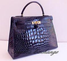 Hermes crocodile handbag