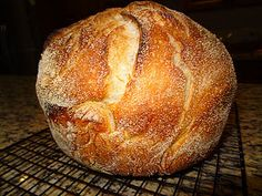 4 ingredients- no knead dutch oven bread