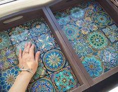 Ручная роспись керамической плитки 6