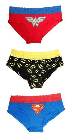 WB037429 DC Superheros Lace Trim Panty 3pk Xlarge -- More info could be found at the image url. (This is an affiliate link) #Panties