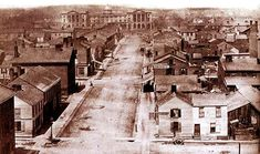 Downtown Toronto 1857 -- Looking North Up York Street from King to Osgood Hall at Queen Street