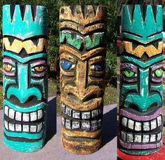 "And then, after snacking on jerk tofu-""chicken"", we cheerfully chiseled tiki heads for the rest of the afternoon."