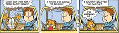 Garfield Comic Strip from Oh my gosh, Garfield Garfield Comics, Jim Davis, Comic Strips, I Laughed, Lol, Humor, Funny Stuff, I Hate Mondays, Funny Things
