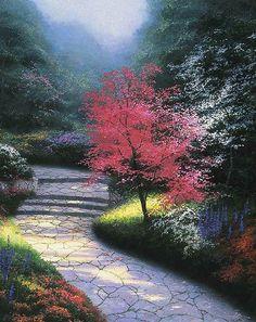 Afternoon Light Dogwood, Thomas Kinkade