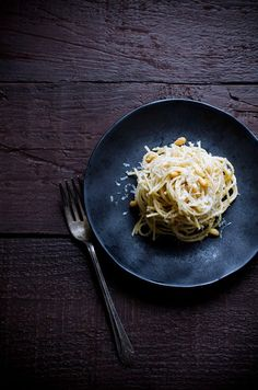 Spaghetti with Parmesan, Brown Butter and Pine Nuts | A Cup of Jo | I made this once and it was excellent