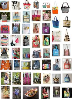 Oodles of Tote Bag Patterns: Free pattern day: Tote bags !