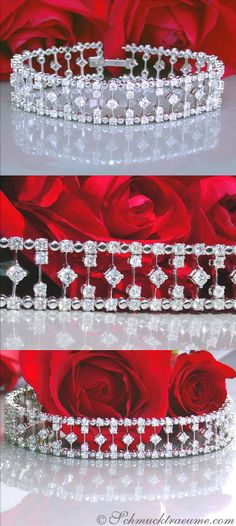 High-end Diamond Bracelet, 9,87 ct. G-SI, WG14K - Visit: schmucktraeume.com Like: https://www.facebook.com/pages/Noble-Juwelen/150871984924926 Mail: info[at]schmucktraeume.com