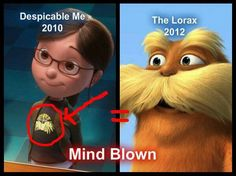 Mind blown but not really why don't people ever  care about the books. Dr. Seuss made the book the Lorax before 2010 duh