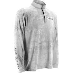 440792c729b7a0 Huk Kryptek Icon 1 4 Zip Kryptek Yeti Grey Crew Neck Shirt