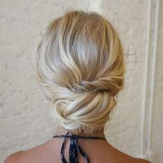 Textured braided updo hairstyle , chignon hairstyle #weddingupdo #chignon #bridehair #longhairdontcare #hairinspo #braid #braidideas #braided