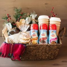 120 DIY Christmas Gift Baskets - /cdn-cgi/l/email-protection /cdn-cgi/l/email-protection Diy Christmas Baskets, Christmas Food Gifts, Handmade Christmas Gifts, Homemade Christmas, Christmas Diy, Christmas Baking, Themed Gift Baskets, Diy Gift Baskets, Diy Gifts For Mothers