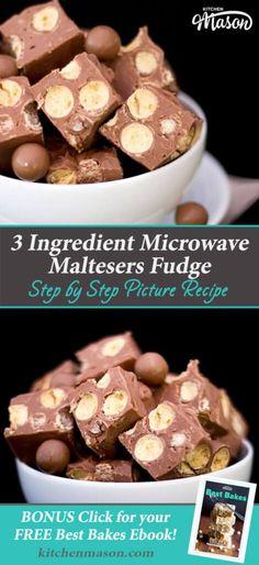 Microwave Fudge Recipes | Maltesers Fudge Recipe | Edible Gift Recipes
