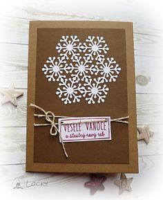 Vánoční přání - Sněhová vločka / Zboží prodejce patlanda | Fler.cz Christmas Paper, Christmas Cards, Big Shot, Quilling, Lockers, Frame, Blog, Scrapbooking, Decor