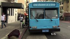 Three days a week, a bus pulls up in downtown San Francisco to offer showers for the homeless. As VOA's Mike O'Sullivan reports, the mobile showers are provided by a small charity called Lava Mae, playing off the Spanish words 'Lavame'  for 'wash me.'