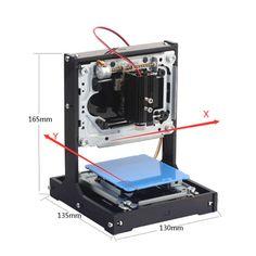 NEJE 500mW DIY Laser Engraver Wood Router USB Carving Printer Machine Box High Power Speedy Laser Engraver Machine Black