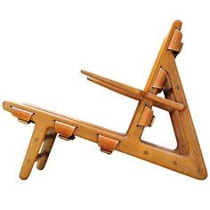 1949 Original Hunting Chair design Borge Mogensen Handmade by Erhard Rasmussen For Sale