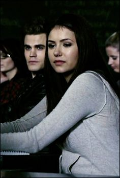 Stefan Salvatore and  Elena Gilbert (characters from the vampire diaries)
