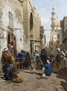 Arthur von Ferraris. A Cairo Street. 1892.