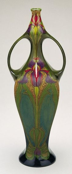 Art Nouveau - beautiful iris vase. @designerwallace