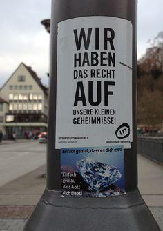 #StreetArt | #Tübingen - Wir haben alle das Recht auf unsere kleinen Geheimnisse...