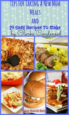 Here are some easy meals to take a new mom, as well as some tips for making meals