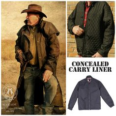 We have perfected our concealed carry built-in holster system, now we have taken it a step further and put it into our detachable liners. Vest or jacket, the liners themselves can be worn separately or as a button- in to any of our jackets or coats, even our traditional oilskin drovers coats.
