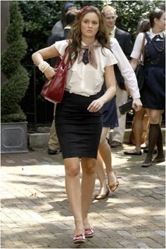 """RED, WHITE AND BLAIR!  Season 2 Ep 4 """"The Ex-Files""""  As the episode progresses Blair feels Serena is replacing her as Queen of Constance."""