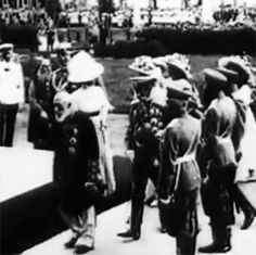 The Grand Duchesses at the opening of the Museum of Fine Arts named after Emperor Alexander III (now the Pushkin Fine Arts Museum) May 31, 1912.  Nicholas II and his family met 77-year-old industrialist and philanthropist Yury Nechaev-Maltsov, donated to the museum two-thirds of the money needed, and Professor Ivan Tsvetayev, who oversaw the formation of the museum's collection and the collection of funds for its creation.