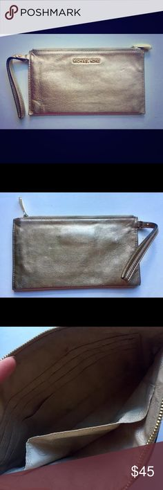 Michael Kors clutch gold used a couple of times, but in a really good condition! Michael Kors Bags Clutches & Wristlets