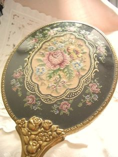 Beautiful needle point mirror