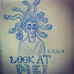 @sketch_dailies #medusa #sketch_dailies #sketch_dailies #doodle #drawing #myths