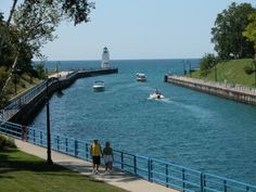 stroll along Lake Charlevoix - where I grew up in Michigan - so nice in the summer