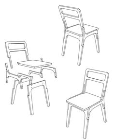 slim chair by pachek ., via Behance