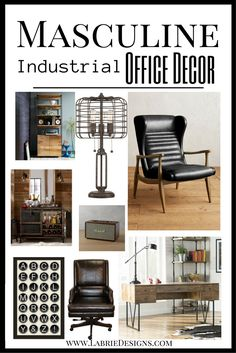 Manly office decor image small stlye Desk Everything You Need To Create Your Very Own Masculine Home Office Put Together An Industrial Office Styling Guide With An Added Touch Of Midcentury Pinterest 163 Best Masculine Office Images In 2019 Office Home Home Office