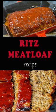 Meatloaf Recipe With Crackers, Moist Meatloaf Recipes, Best Easy Meatloaf Recipe, Meatloaf Recipe Video, Homemade Meatloaf, Classic Meatloaf Recipe, Meat Loaf Recipe Easy, Best Meatloaf, Ritz Cracker Meatloaf Recipe