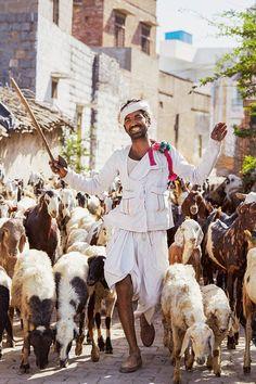 Goat herder, India Photo by Scott Schuman (The Sartorialist) High Fashion Photography, Glamour Photography, Editorial Photography, Lifestyle Photography, Street Photography, The Sartorialist, Vogue Brazil, Vogue Russia, Merci Paris