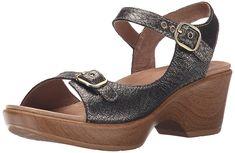 Dansko Women's Joanie Pewter Burnish Metallic Wedge Sandal *** You can get more details here : Dansko sandals