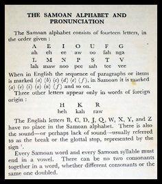 Samoan Alphabet and vocabulary http://www.ipacific.com/samoa/basic_samoan.html