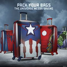 Love Marvel? Take Captain America, Iron Man, Spiderman and the Incredible Hulk with you whenever you travel. Click to shop our Marvel luggage.