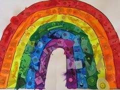 Rainbow collage with tactile items