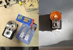how to make a vintage camera nightlight! it's a little complicated, but doable! And so cool!