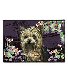 Love this Yorkie Springtime Doormat on #zulily! #zulilyfinds