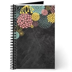 Chalkboard Illustration Modern Floral Journal
