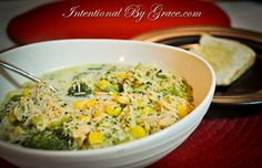 Creamy Chicken Soup recipe.  The perfect soup for this Fall season.  Click here to get the recipe now.